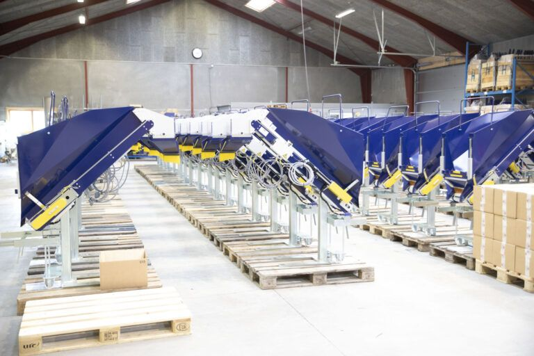 Finished conveyor systems lined up