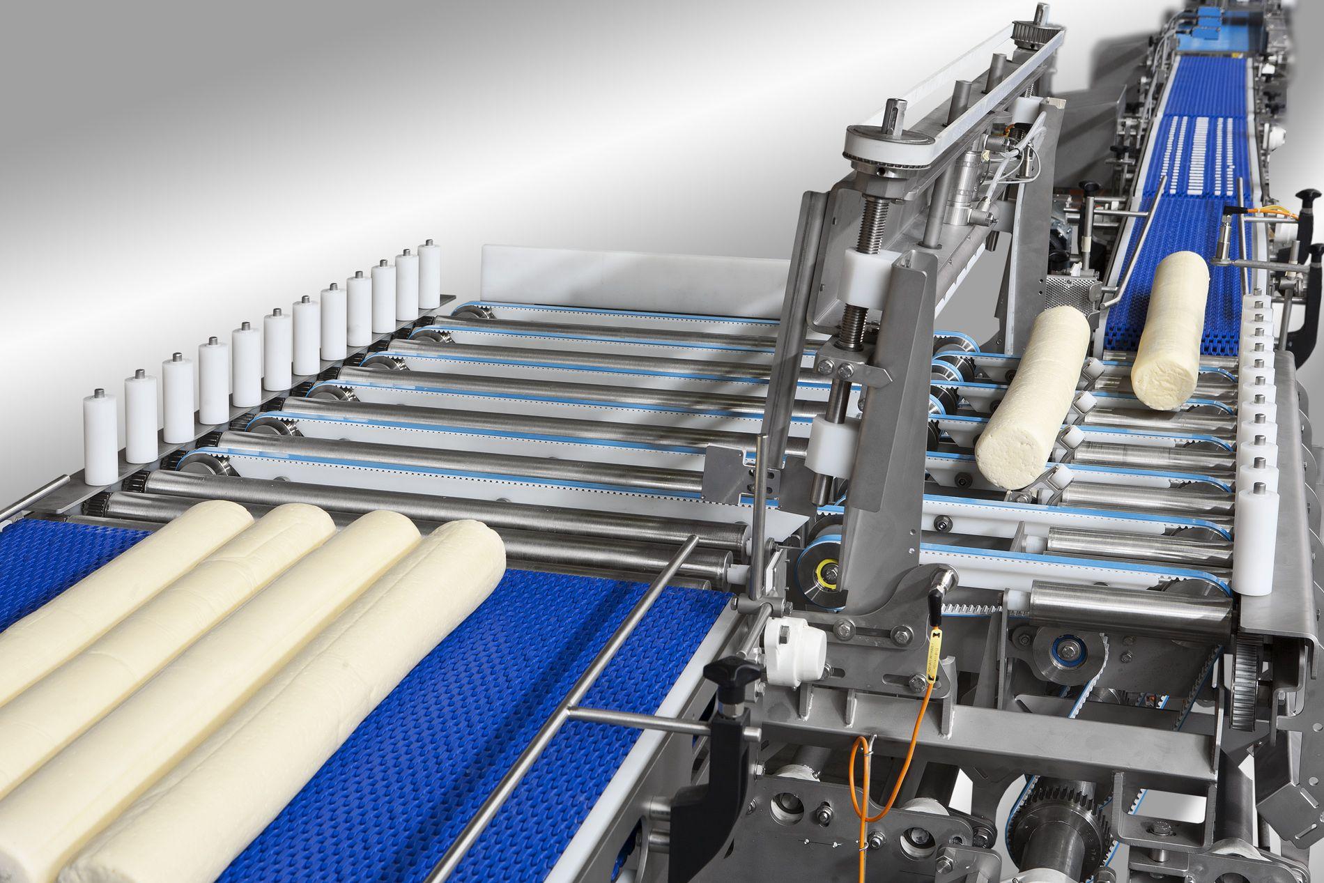Cheese transporting conveyor belt