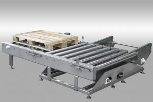 A conveyor for moving pallets